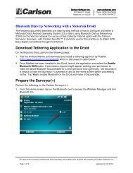 Bluetooth Dial-Up Networking with a Motorola ... - Carlson Software