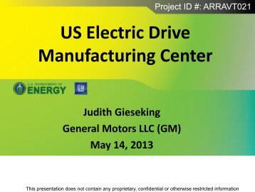 (GM) May 14, 2013 - Department of Energy