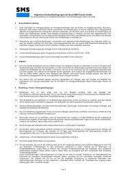 Allgemeine Einkaufsbedingungen der Buss-SMS-Canzler GmbH
