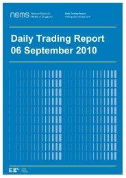 Daily Trading Report 06 September 2010 - EMC