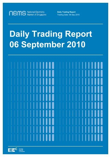 Daily Trading Report 06 September 2010 - EMC
