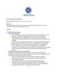 Accounting Careers Committee Meeting Minutes, October 11, 2011 ...