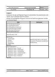 Wirtschaftsinformatik Unterprogrammtechnik Excel ... - Klassenwiki