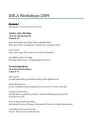 Workshops 2009.pdf - Det Danske Ledelsesakademi