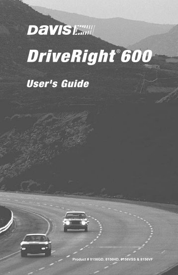 DriveRight 600 User's Guide - Davis Instruments Corp.