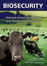 Biosecurity Magazine, Issue 84 - 15 June 2008 - Biosecurity New ...