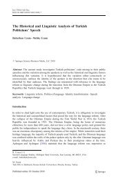 The Historical and Linguistic Analysis of Turkish Politicians' Speech