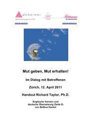 Mut geben, Mut erhalten! Im Dialog mit Betroffenen / 12. April 2011
