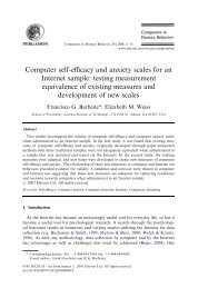 Computer self-efficacy and anxiety scales for an Internet sample ...