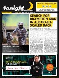 search for brampton man in australia scaled back - tonight Newspaper