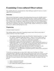 Examining Cross-cultural Observations - LearnAlberta.ca
