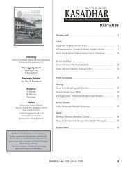 Kasadhar, Edisi Tahun 2008 - Universitas Sanata Dharma