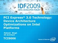PCI Express* 3.0 Technology: Device Architecture ... - Intel