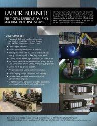 Precision Machine Shop Fabrication - Brochure - Faber Burner ...