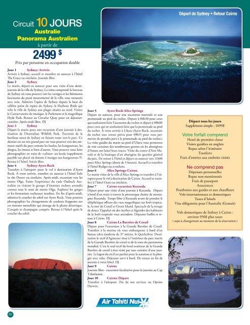 Australie - Voyages Cassis