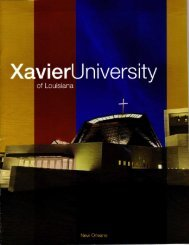 PDF brochure - Xavier University of Louisiana