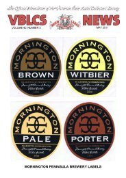 mornington peninsula brewery labels - The Victorian Beer label ...