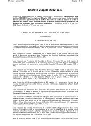 DM 2 aprile 2002 n.60 - ARPA Umbria