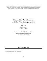 China and the World Economy: A Global Value Chain perspective
