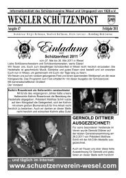 WESELER SCHÃœTZENPOST SEITE 5 ... - schuetzenverein-wesel.com