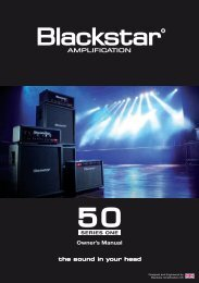 Owner's Manual - Blackstar Amplification