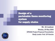 Design of a perishable items monitoring system for supply chains