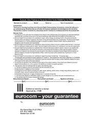 Eurocom, 2 Dov Friedman st. Ramat-Gan 52141 Tel:03-7530000 ...