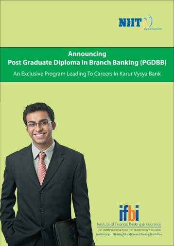 Announcing Post Graduate Diploma In Branch Banking ... - IFBI.com