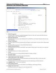 McKesson STAR system menus & shortcuts