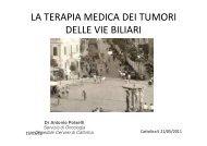 la terapia medica dei tumori delle vie biliari - Oncologia Rimini