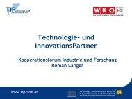 Technologie- und InnovationsPartner - beim TFZ Wiener Neustadt