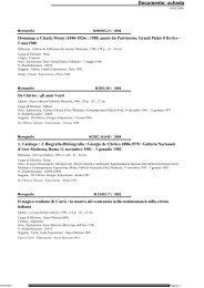 Scarica il file PDF con l'elenco degli ultimi arrivi - Accademia di belle ...