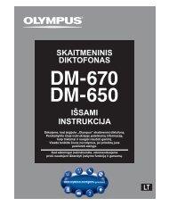 IÅSAMI INSTRUKCIJA SKAITMENINIS DIKTOFONAS - Olympus