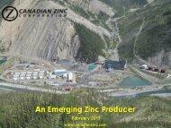 An Emerging Zinc Producer - PrecisionIR