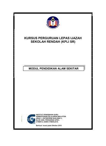 Modul Pendidikan Alam Sekitar - Laman Web Rasmi IPGM Kampus ...