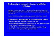 Biodiversity of viruses in fish and shellfishes of Taiwan