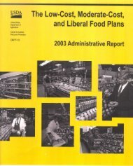 The Low-Cost, Moderate-Cost - Center for Nutrition Policy and ...