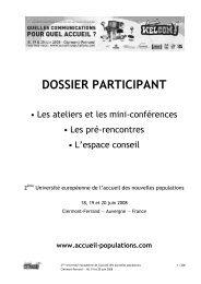 DOSSIER PARTICIPANT - Réseau Rural Français