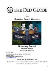 Brighton Beach Memoirs Broadway Bound - The Old Globe