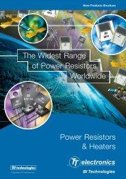 Power Resistors & Heaters The Widest Range of Power Resistors ...