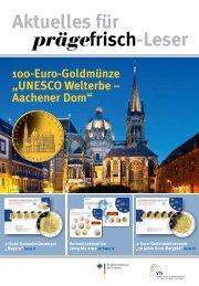 100-Euro-Goldmünze UNESCO Welterbe-Aachener Dom