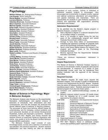 Psychology - Course Catalogs