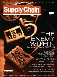 w w w . s c e m a g a z i n e . c o m - Supply Chain Europe