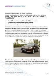 Mazda3 Pressespiegel - Mazda Autohaus Rottmann