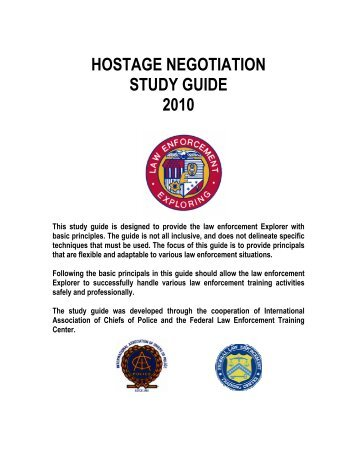 Book review of a fbi hostage negotiation manual long room.