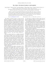 Mnn clusters: Size-induced transition to half metallicity