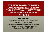 thE NEW WORLD OF BANkS, GOVERNMENTS, REGULATION AND ...