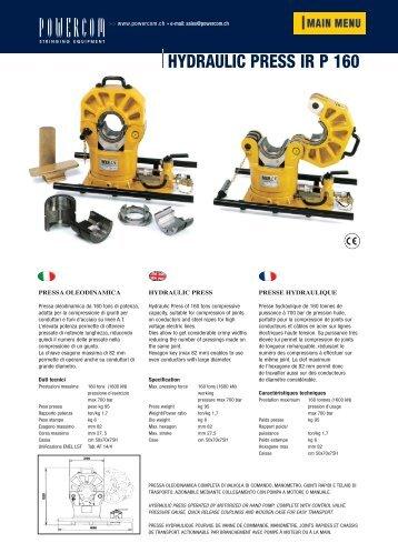 IR P 160 - Powercom SA - stringing equipment