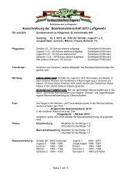 Ausschreibung der Bezirksmeisterschaft 2013 Luftgewehr