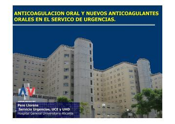 anticoagulacion oral y nuevos anticoagulantes orales. dabigatrán